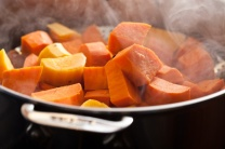 Steam your sweet potatoes to maximize health benefits.